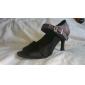 les femmes personnalisées de satin avec paillettes scintillantes latin / chaussures de bal de danse de performance (plus de couleurs)