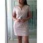 TS Heart-shaped Lace Sheath Dress