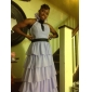 Prom/Military Ball/Formal Evening Dress - Sage Plus Sizes Sheath/Column Halter/V-neck Floor-length Chiffon