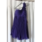 Homecoming Bridesmaid Dress Knee Length Chiffon A Line One Shoulder Dress