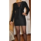 TS Mesh Deep V Sheath Dress