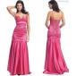 Floor-length Chiffon Bridesmaid Dress - Silver Plus Sizes / Petite A-line / Princess Halter