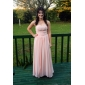TS Couture® Prom / Military Ball / Formal Evening Dress - Pearl Pink Plus Sizes / Petite Sheath/Column Strapless / Sweetheart Floor-length Chiffon