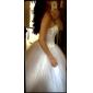 웨딩 드레스 - 아이보리(색상은 모니터에 따라 다를 수 있음) 볼 가운 바닥 길이 튜브탑 튤 플러스 사이즈
