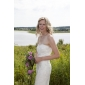 Trumpet/Mermaid Plus Sizes Wedding Dress - Ivory Sweep/Brush Train Sweetheart Tulle