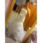 Trumpet/Mermaid Plus Sizes Wedding Dress - Ivory Court Train Strapless Satin/Organza