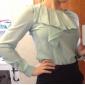 TS asymétriques volants manches chemisier chemise
