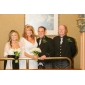 Lanting Bride® Corte en A Tallas pequeñas / Tallas Grandes Vestido de Boda - Clásico y Atemporal / Moderno y Chic Corte Cuello en V Raso