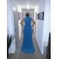 Formeller Abend Kleid - Elegant A-Linie / Prinzessin Stehkragen Hof Schleppe Chiffon mit Schleife(n) / Schärpe / Band / Seitlich drapiert