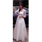 A-line/Princess Plus Sizes Wedding Dress - Ivory Floor-length Straps Satin