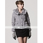 TS Hoodied Long Sleeves Lapel Down Jacket (2 Colors)