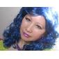 korkiton pitkä 100% Kasi kuitua sininen puku osapuoli peruukki