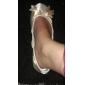 XOCHITL - Chaussures Plates Mariage Lune de Miel Talon Plat Satin
