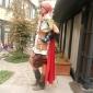 Inspirerad av Final Fantasy Lightning Video Spel Cosplay Kostymer/Dräkter cosplay Suits Lappverk Vit / Brun Lång ärmKappa / Topp / Kjol /
