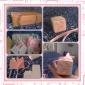 호의 상자 돌잔치 파티 호의 및 선물 클래식 테마/가든 테마 큐빅 핑크/블루/라일락/그린 카드 종이 비 개인 12조각/세트