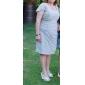 Sheath/Column Plus Sizes Mother of the Bride Dress - Jade Knee-length Sleeveless Chiffon