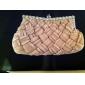 håndtasker / koblinger i smukke satin med skinnende rhinestones flere farver