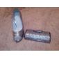 håndtasker / koblinger i sølv satin med krystal / rhinestone