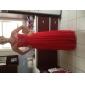 Robe - Couleur Rubis Soirée formelle/Bal de finissants/Bal militaire Fourreau Avec bretelles Longueur ras du sol Mousseline polyester