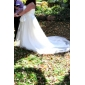 A-line/Princess Plus Sizes Wedding Dress - Ivory Sweep/Brush Train Strapless Tulle
