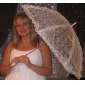 dejlige hvide blonder bryllup paraply