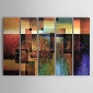 Canvas Oil Paintings Set of 5 Modern Abstract Reds Block Hand-painted Canvas Painting Ready to Hang