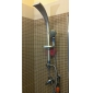 giratorio de montaje en pared acabado de pintura extendida panel de la ducha grifo con una ducha de mano grado de abs