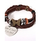 Men's/Unisex/Women's Personalized/Fashion Bracelet Alloy/Leather Non Stone