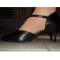 Chaussures de danse (Noir) - Non personnalisable - Talon aiguille - Cuir - Moderne/Danse latine/Salle de bal/Chaussures d'Entraînement