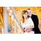 moitié manches en taffetas de mariée veste / Boléro Mariage