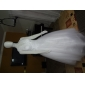A-line/Princess Plus Sizes Wedding Dress - Ivory Floor-length V-neck Tulle