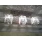 Linear Chandelier Island Light Crysal 3 Lights
