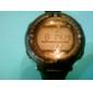 Orologio impermeabile ad energia solare, unisex,  con cronografo, sveglia e Luce EL - Nero