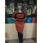 TS Stripe Bars V-neck Jersey Dress