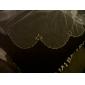one-tier tule met kraal vingertop lengte bruiloft sluier (meer kleuren)