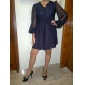 TS Shimmering Puff Sleeves Dress