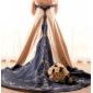Linia -A Prințesă Trenă Capelă Satin Rochie de mireasă cu Aplică Decorat de LAN TING BRIDE®