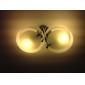 Lampadario a soffitto, con 2 luci e paralumi in acrilico (rifinitura cromata)