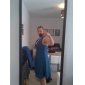 Knee-length Taffeta Bridesmaid Dress - Ruby Plus Sizes A-line/Princess Halter/V-neck