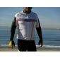 Santic-cycling jersey kort ærme 100% polyester (hvid)