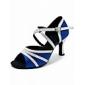 satiné / paillettes scintillantes des femmes latino supérieure chaussures de danse chaussures de bal la pratique des couleurs plus