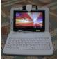 enlighted vitt läder tangentbordet fallet för 7 tum tablett dator (USB-port)