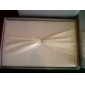 klassisk bryllup samling satt i hvit sateng (3 stk)