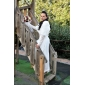 3/ 4-length Sleeve Faux Fur Special Occasion/ Wedding Jacket/ Wrap
