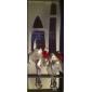 servindo conjuntos rosa vermelha bolo de casamento faca personalizado& bolo de cetim branco serving