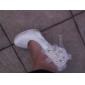 Satin Stiletto Plateau-Pumps mit Strass / Perlen Hochzeit Schuhe (weitere Farben)