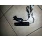 negro remoto y nunchuk + caso del controlador de Wii