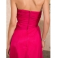 TS Couture Formal Evening / Military Ball Dress - Fuchsia Plus Sizes / Petite A-line / Princess Strapless / Sweetheart Sweep/Brush Train Chiffon