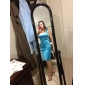 신부 들러리 드레스 - 블랙 시스/컬럼 무릎길이 사각형 엘라스틱 우븐 사틴 플러스 사이즈