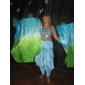 Belly Dance Outfits Women's Performance Chiffon Beading Coins Sleeveless Natural